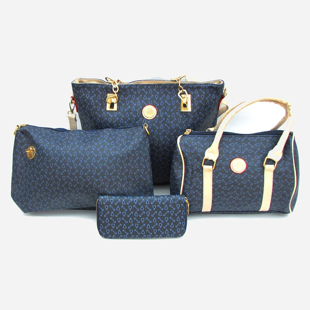 4 in 1 Beautiful Blue Tote - Every Day Tote - Women Shoulder Bag - Ladies Bag