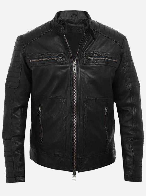 Cool Men 4 Pocket Leather Jacket