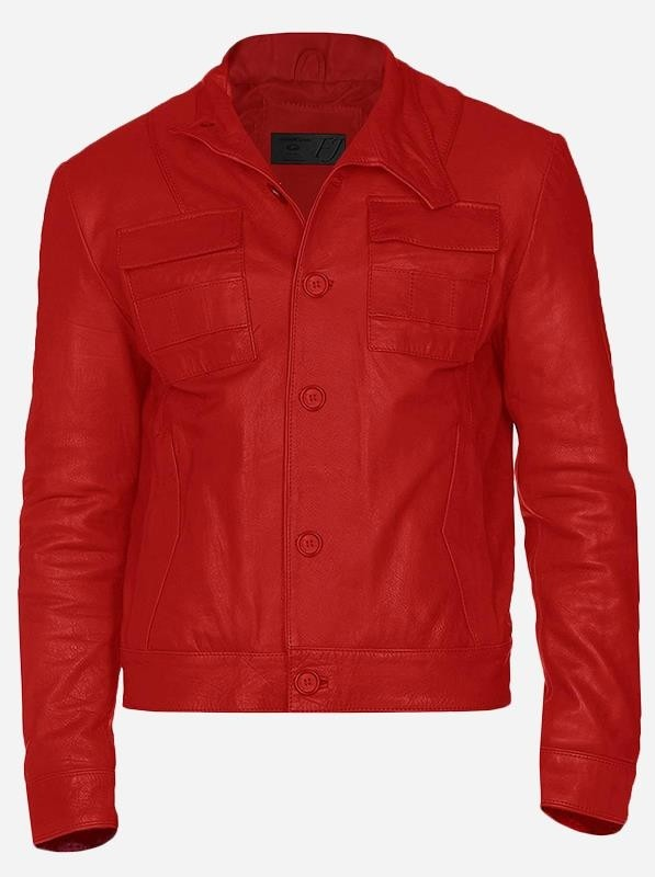 Button Closure Men's Red Winter Wear Rain Leather Jacket (Men)Back  Reset  Delete  Duplicate  Save  Save and Continue Edit