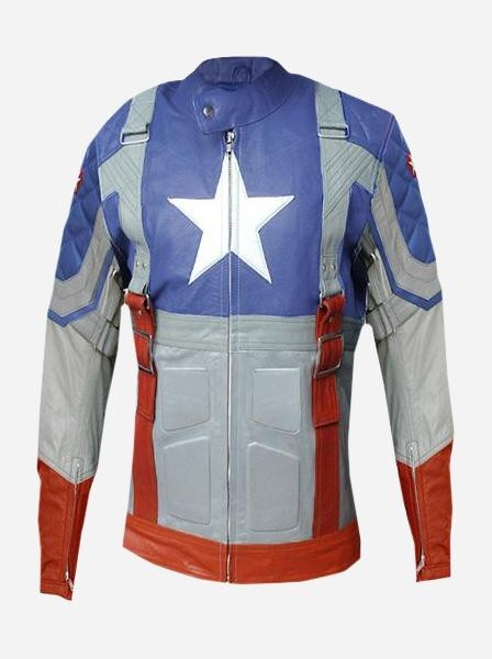 Captain America Leather Jacket For Women