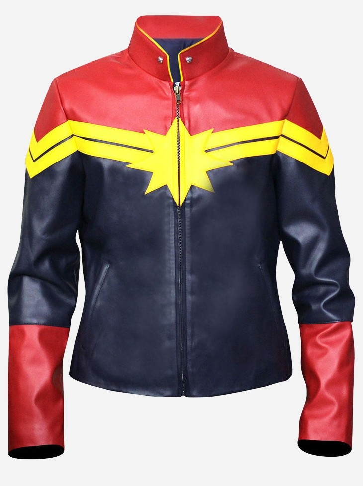 Women's Captain Marvel Leather Jacket