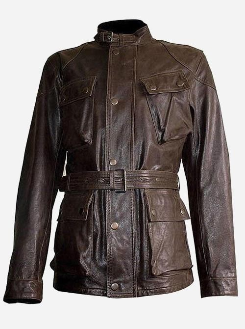 Brad Pitt Leather Jacket Benjamin Button