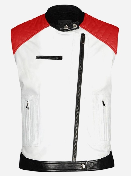 Men Café Racer Leather Vest