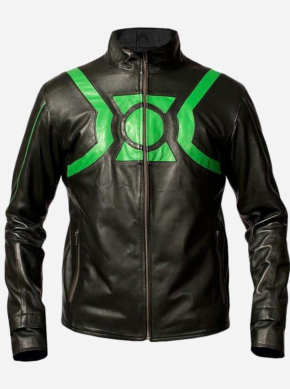 Green Lantern Leather Jacket for Men