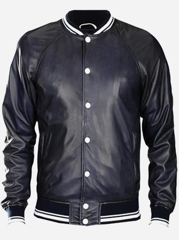 Justin Bieber Leather Bomber Jacket