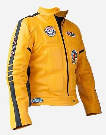 Yellow Leather Kill Bill Motorcycle Jacket