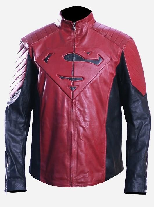 Superman Motorcycle Jacket Front
