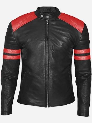 Red and Black Leather Jacket