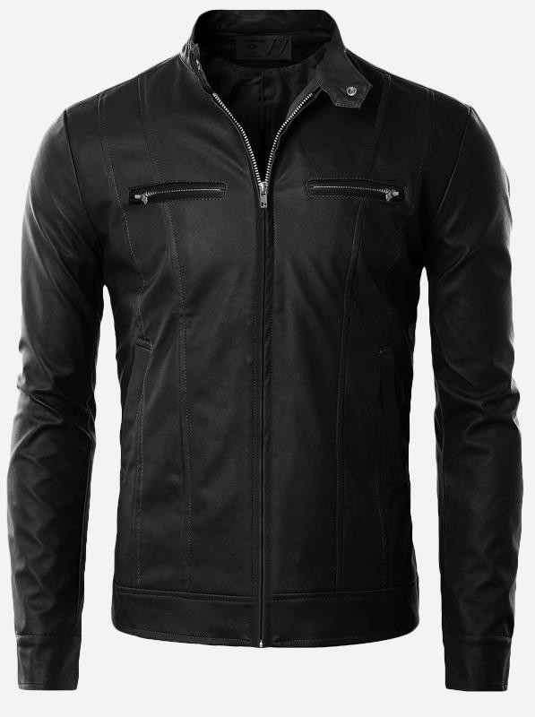 Thick Leather Motorcycle Jacket