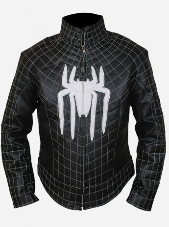 Amazing Spider Man Black Leather Jacket