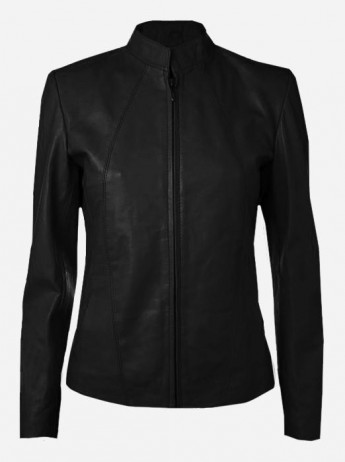 Biker Style Women's Black Leather Jacket