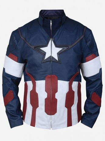 Captain America Civil War Leather Jacket for Men