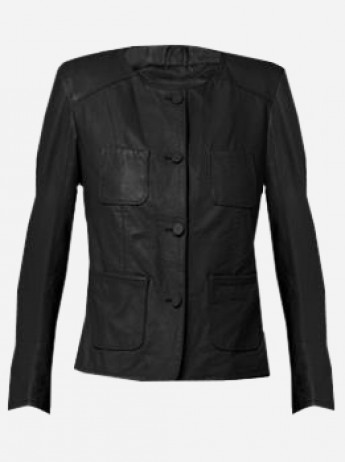 4 Pocket Leather Jacket for Women