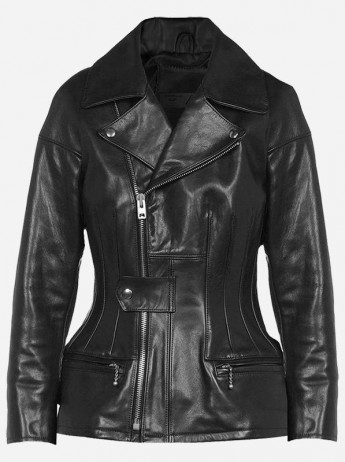 Desingers Unique Women Black Leather Fashion Jacket