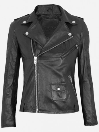 Horse Leather Motorcycle Jacket for Women