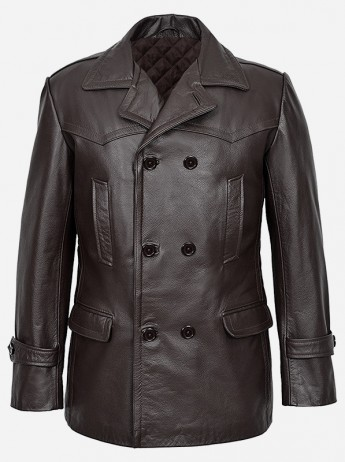 DR.Who Brown Leather Coat For Men