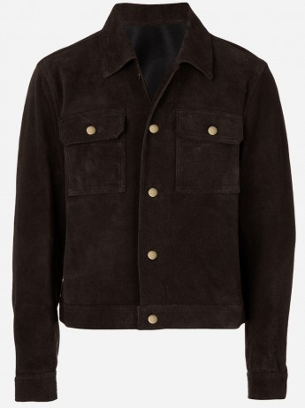 Exclusive Luxurious Vintage Brown Beatles John Lennon Suede Jacket