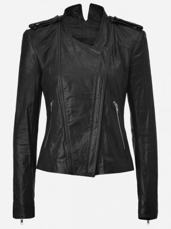 Side Zipper Leather Jacket