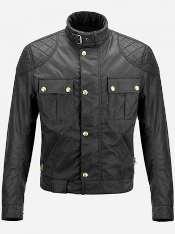 Gerard Butler Black Biker Leather Jacket