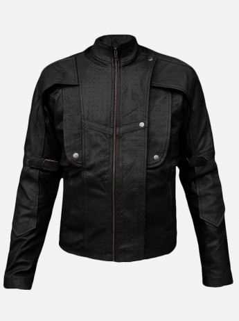 Guardians of the Galaxy Star Black Leather Jacket for Men