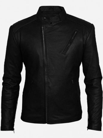 Iron Man Tony Stark Black Leather Jacket