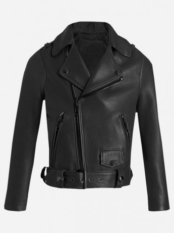 Jessie J Womens Black Leather Jacket