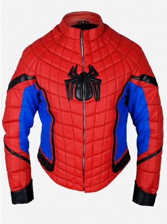 Leather Motorcycle Spiderman Homecoming Jacket