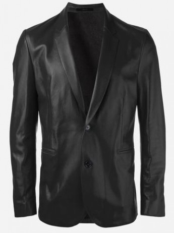 Men Genuine Leather Blazer