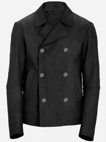 Classic Vintage Men's Black Suede Leather Jacket