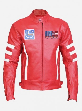 Men's Padded Leather Motorcycle Jacket