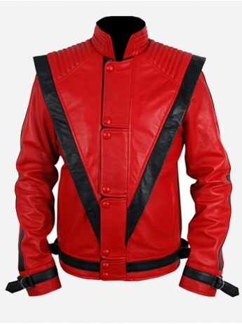 Michael Jackson Orange Leather Jacket