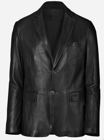 Mission Impossible Leather Blazer