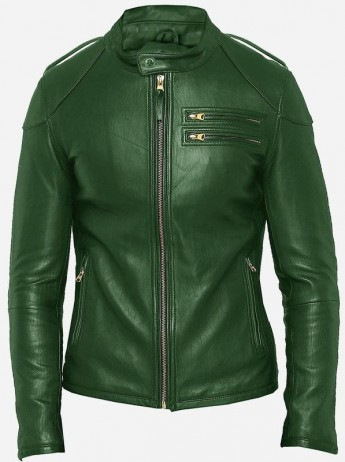 Emerald Green Leather Jacket