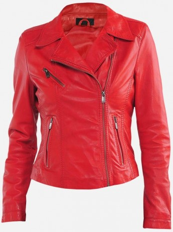 Women's Red Slim Fit Jacket