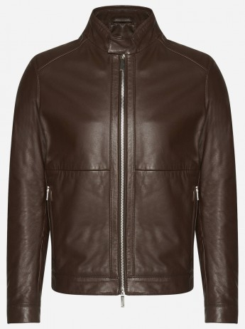 Premium Men Brown Sheepskin Leather Jacket – Cafe Racer