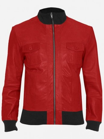 Red & Brown Leather Jacket