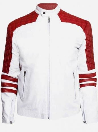 Red & White Leather Jacket