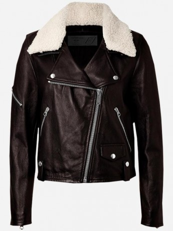 Ladies Fur Leather Jacket