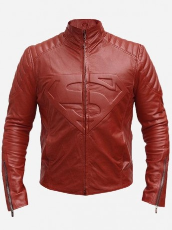 Smallville Red Superman Leather Jacket