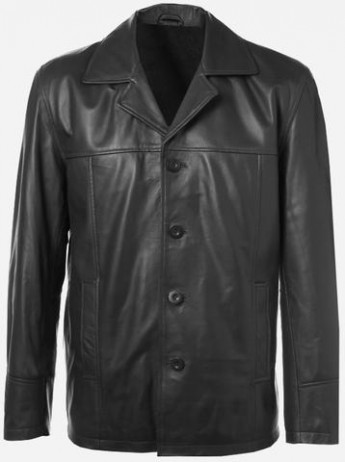 Soft Handmade Black Leather Biker Jacket for Men