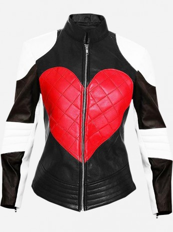 Street Fashion Women Heart Leather Jacket