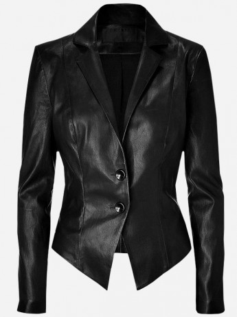 Women Genuine Leather Blazer