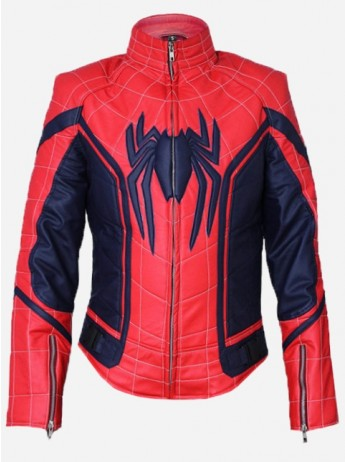Tom Holland Spiderman Leather Jacket
