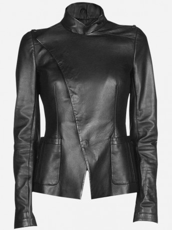Leather Female Biker Jacket