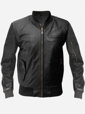 Wall Street 2 Money Never Sleeps Leather Bomber Jacket