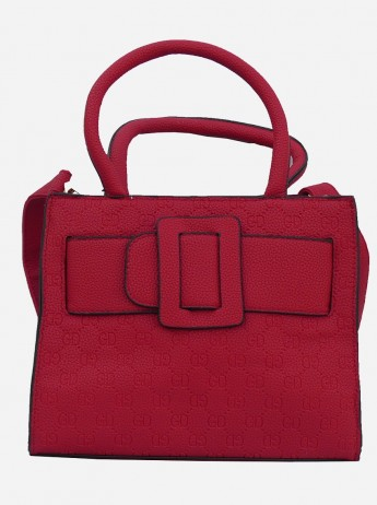 PU Leather Women Reddish Maroon Shoulder Tote Bag