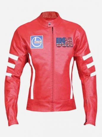 Women Padded Leather Motorcycle Jacket