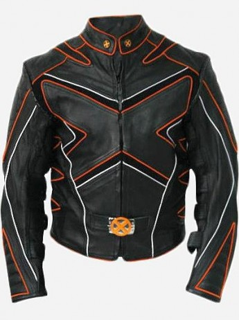 Orange And Black X-Men Wolverine Leather Jacket