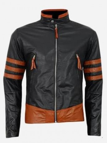 X-Men Wolverine Origins Black Leather Jacket